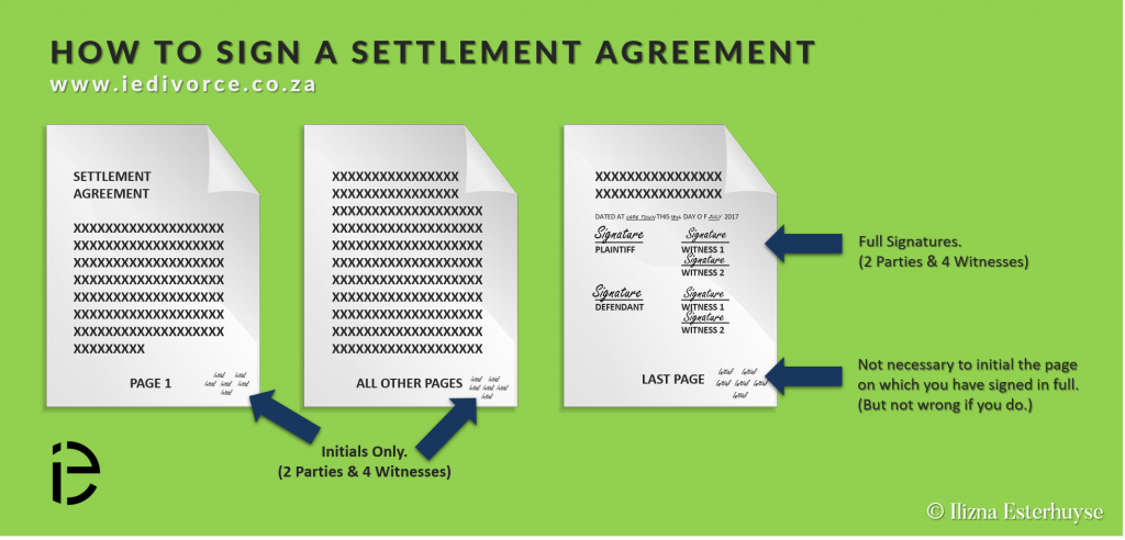 Pretoria Divorce Attorney - How to Sign a Settlement Agreement